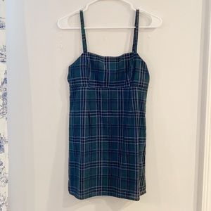 Urban Outfitters Green and Blue Plaid Dress
